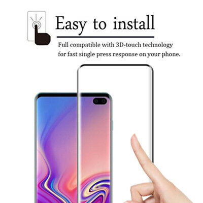 For Samsung Galaxy S10e S10+ Plus 9H Full Cover Tempered Glass Screen Protector 6
