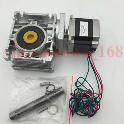 Nema23 Stepper Motor 11Nm Worm Gearbox 10:1 Speed Reducer Kit CNC Router Milling 4