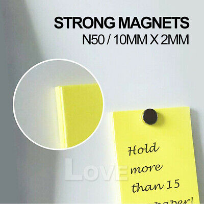 100x Super Strong Round Disc Magnets Rare-Earth Neodymium Magnet N35 10 x 2 mm 7