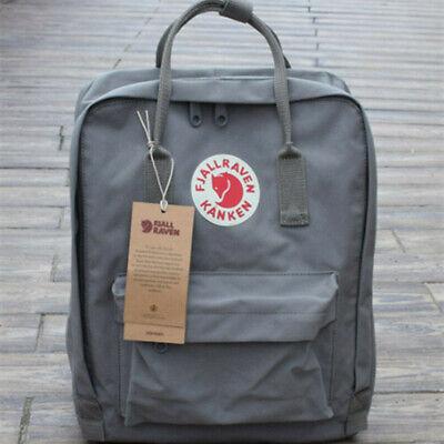 Waterproof Fjallraven Kanken Sport Backpack Canvas Travel Bag Handbag 7L 16L 20L 8