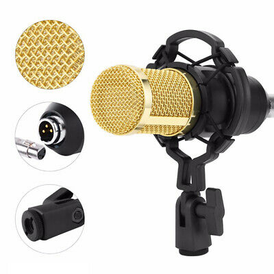 Professional Studio Condenser Microphone Kit Recording Broadcasting Shock Mount 6