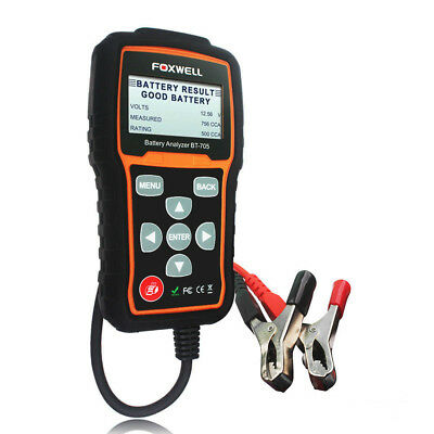 Foxwell BT705 12V 24V Auto Car Battery Tester Analyser Tool AGM GEL 100-2000CCA