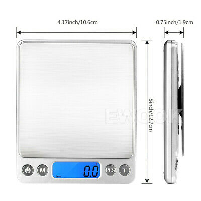 0.01G-500G Electronic Mini Digital Pocket Jewelry Gold Weighing Kitchen Scales 3