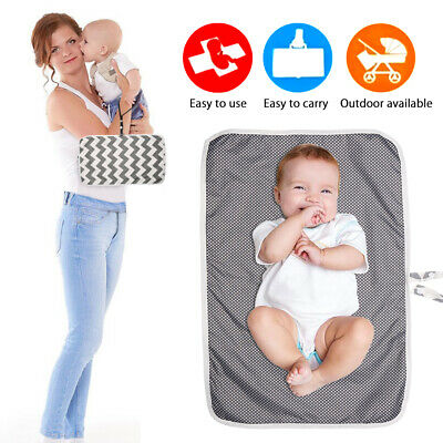 Portable Foldable Washable Baby Waterproof Travel Nappy Diaper Changing Mat Pad 5