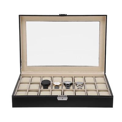 Coffret boîte à Montre boîtier pour 10/12/24 montres rangement bijoux présentoir 7