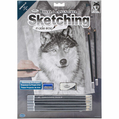 Animals Sketching Made Easy Drawing Kits & Graphite Pencils Set 5
