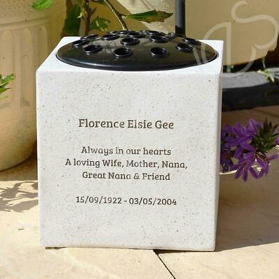 Personalised Customised Memorial Graveside Flower Rose Bowl Vase Pot 2
