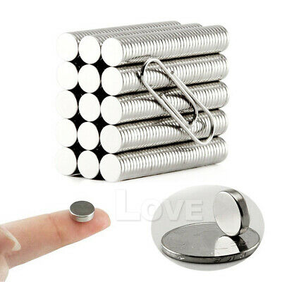 100x Super Strong Round Disc Magnets Rare-Earth Neodymium Magnet N35 10 x 2 mm 6