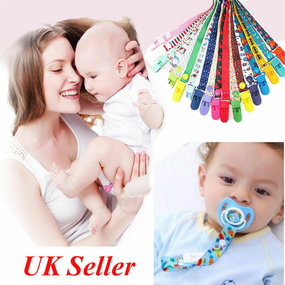 Dummy Clip Baby Soother Clips Chain Holder Pacifier Strap Dummies /& Soothers