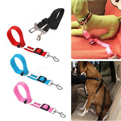 Pet Dog Car Vehicle Travel Safety Seat Belts Adjust Harness Restraint Clip UK 8