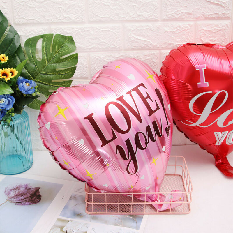 BL348 18 Inch P.S I Love You Heart Shaped Foil Balloon