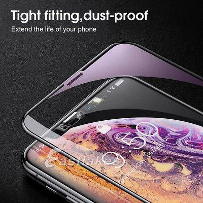 2X Apple iPhone XS Max XR X 6D Full Cover Screen Protector Tempered Glass Black 7