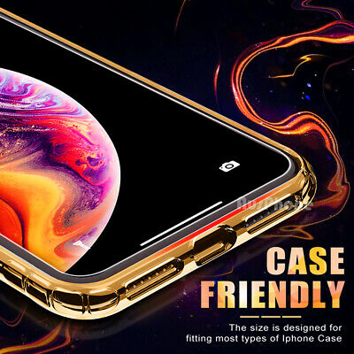 2x Nuglas Tempered Glass Screen Protector For iPhone 11 Pro XS Max X 8 7 6S Plus 5