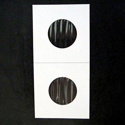 (50) Quarter Size 2x2 Mylar Cardboard Coin Flips for Storage | 25 Cent Holders 2