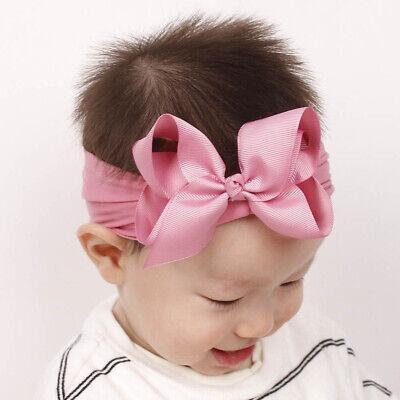 Girls Kids Baby Soft Bow Hairband Headband Sweet Turban Knot Head Wrap Cute Bow 4