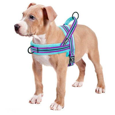Reflective Dog Harness Pet No Pull Strap Vest Front Leading Walking Harness XS-L 11