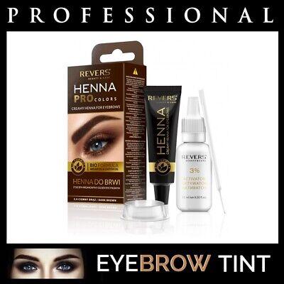 Professional EYEBROW HENNA Brow Eyelash TINT Dye Cream Black Brown Graphite 15ml 2