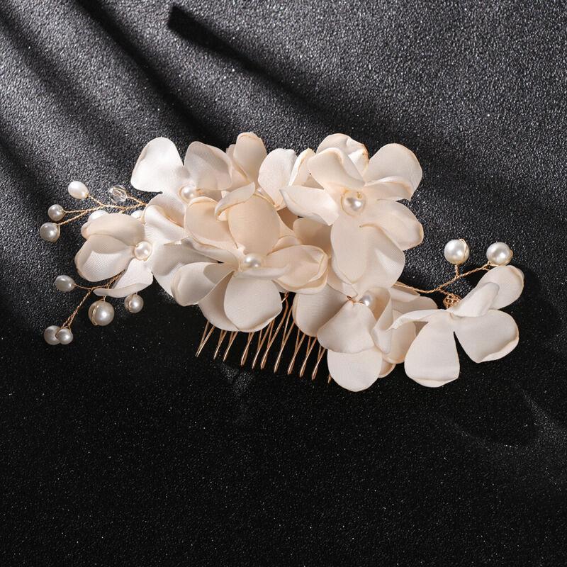 Bridal Wedding Fashion Pearls Flower Hair Barrette Clip Hairpin Accessories Gift 10