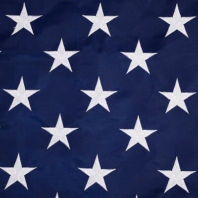 8X12' ft American Flag Sewn Stripes Embroidered Stars Brass Grommets USA US U.S. 3