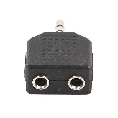 "4x 1//8/"" 3.5mm Stereo Plug Adapter to 2-way 6.35mm Mono Jack Headphone Y Splitter"
