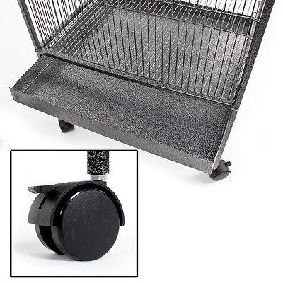 Volière cage à oiseaux canaris perruches perroquets metal argentée 162cm haute 5