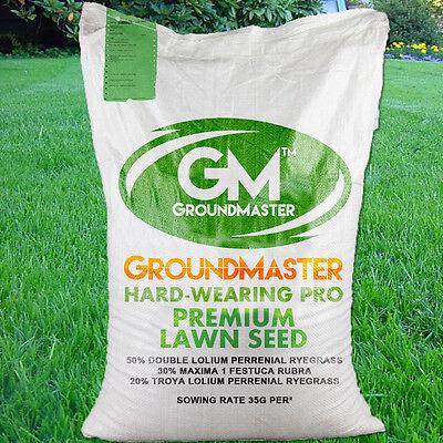 GroundMaster HardWearing Tough Garden Premium Back Lawn Grass Seed Various Sizes 3