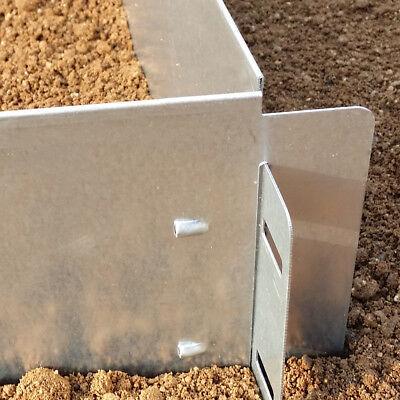 Rasenkante Metall 14cm/18cm hoch verzinkt Beetumrandung Beeteinfassung Mähkante 2