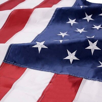5'x8' ft American Flag Sewn Stripes Embroidered Stars Brass Grommets USA US U.S. 4
