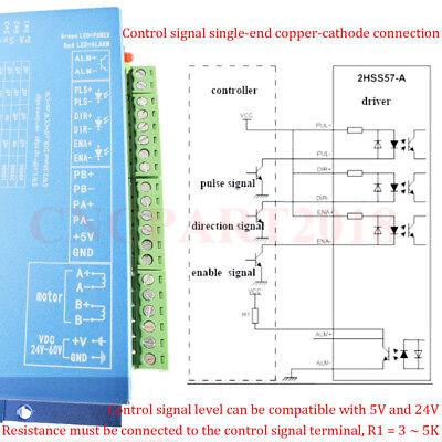 Nema23 Closed Loop 1.2NM Hybrid Stepper Motor Servo Driver 4.5A 2ph Power Supply 7