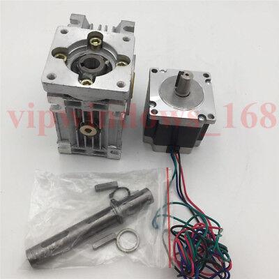 7.5:1 Worm Gearbox Nema23 Geared Stepper Motor 8.25Nm L56mm Speed Reducer CNC
