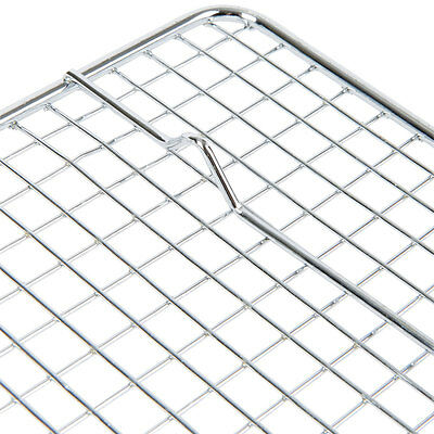 Full Size Silver NSF Stainless Steel Pan and Cooling Rack / Pan Grate Set