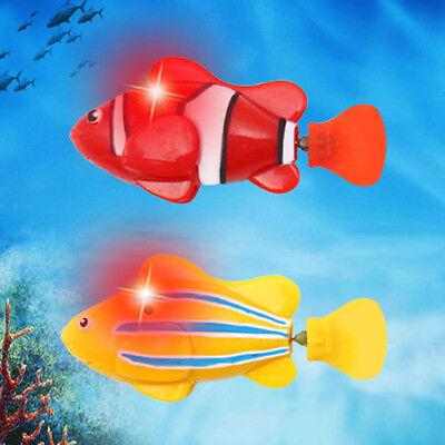 Funny Electric Lighting Swim Fish Pet Kids Child Baby Swimming Bathing Tub Toy