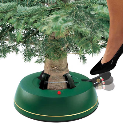 6.5ft Real Christmas Tree Stand Base Water Reservoir Star-Max Foot Operated 2m