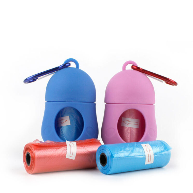Dog Poop Waste Bag Holder Dispenser With Lead Attachement Plastic Dog poo Bags 4