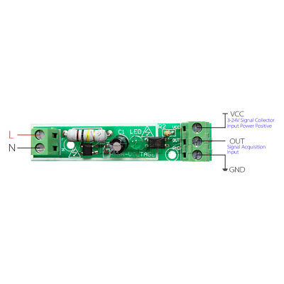 for PLC AC 220V 1-Bit Optocoupler Isolation Module Voltage Detect Board Adaptive 8