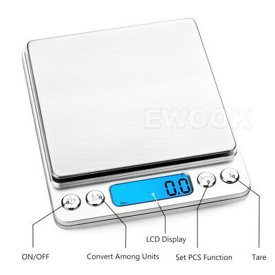 0.01G-500G Electronic Mini Digital Pocket Jewelry Gold Weighing Kitchen Scales 4