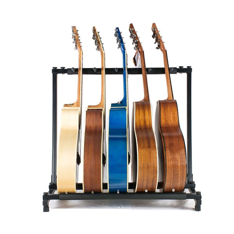 5 7 Way Multi Guitar Stand Foldable Acoustic Electric Electric Bass Guitar Rack 4