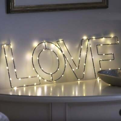 LED Sign Love Happy Dream Home Glow Light Decor Wall Hanging Neon Alternative