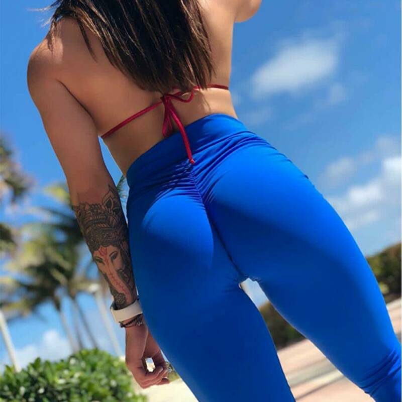 Women's Yoga Pants PUSH UP Fitness Leggings Sports Scrunch Stretch Trousers G78 7