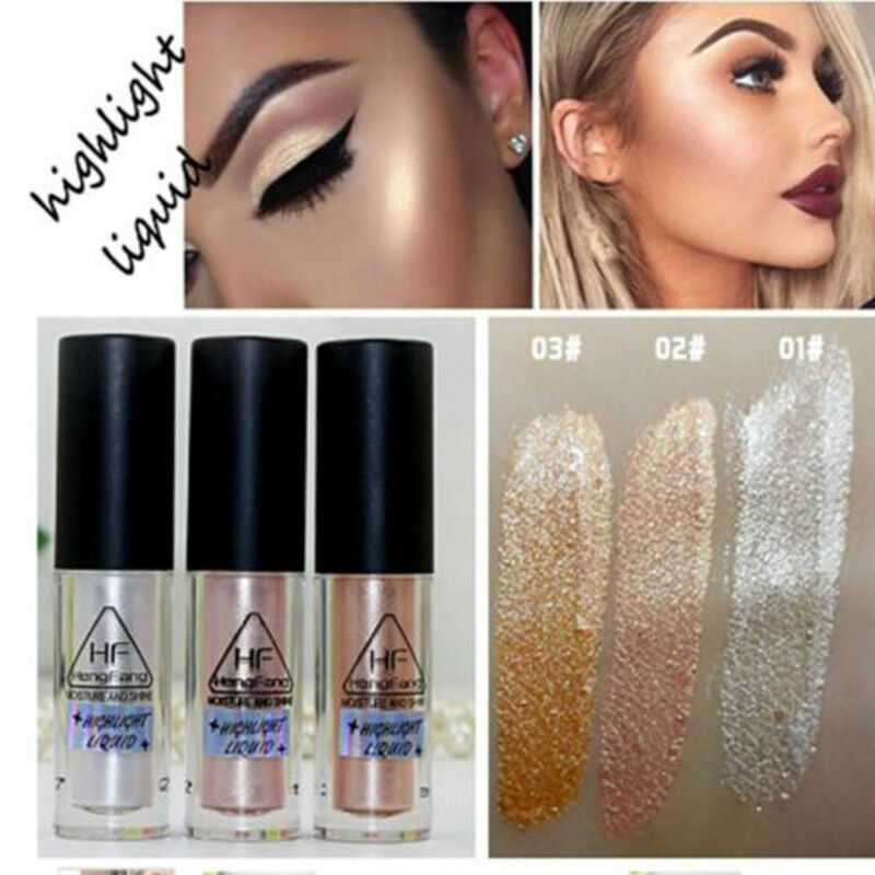 3 Colors Highlighter Liquid Shimmer Contour Brightener  Beauty Makeup Cosmetic