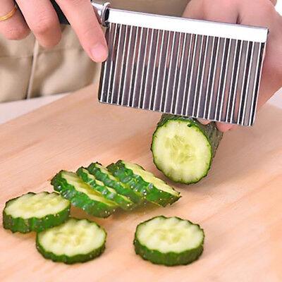 Patata ondulados borde herramienta acero inoxidable utensilio cocina
