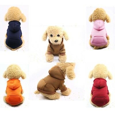 Pet Dog Cat Puppy Sweater Hoodie Coat For Small Pet Dog Warm Costume Apparel HOT 2