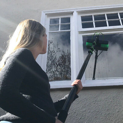 Window Cleaning Pole Lightweight 20ft Telescopic Water Fed Water Sprayer Homeuse 2