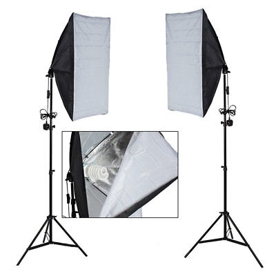 Studio Photography Softbox Lighting Kit Background Stand Free 3 Backdrop Clamps 3