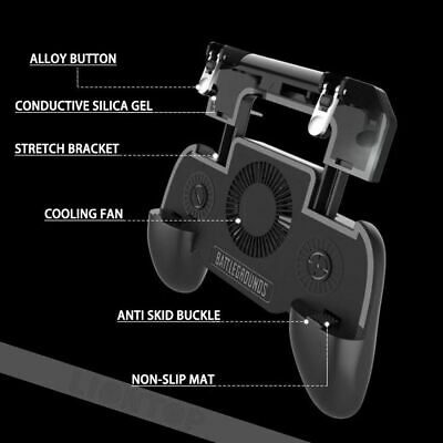 PUBG Mobile Phone Game Controller Joystick Cooling Fan Gamepad for IOS Android 10