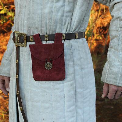 Renaissance Leather Dijon Medieval Suede Costume Re-enactment  Pouch