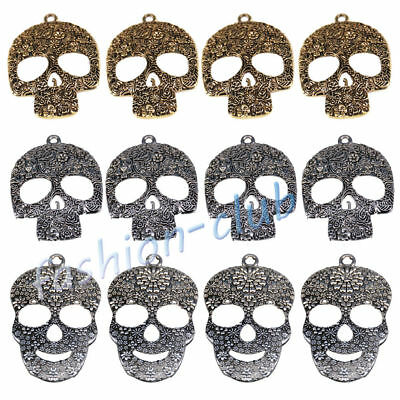 Wholesale Steampunk Skull Cross Gear Pendant Charms For Bracelet Jewelry Finding 9