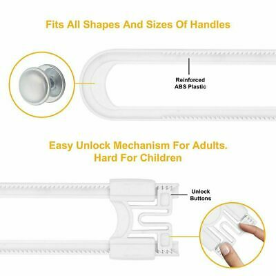 Sliding Cabinet Locks (8 Pack) Child Safety - Baby Proof Knobs, Handles,  Doors 5