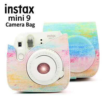 Fujifilm Instax Mini 8 9 Film Instant Camera Flamingo Bag PU Leather Cover Case 2