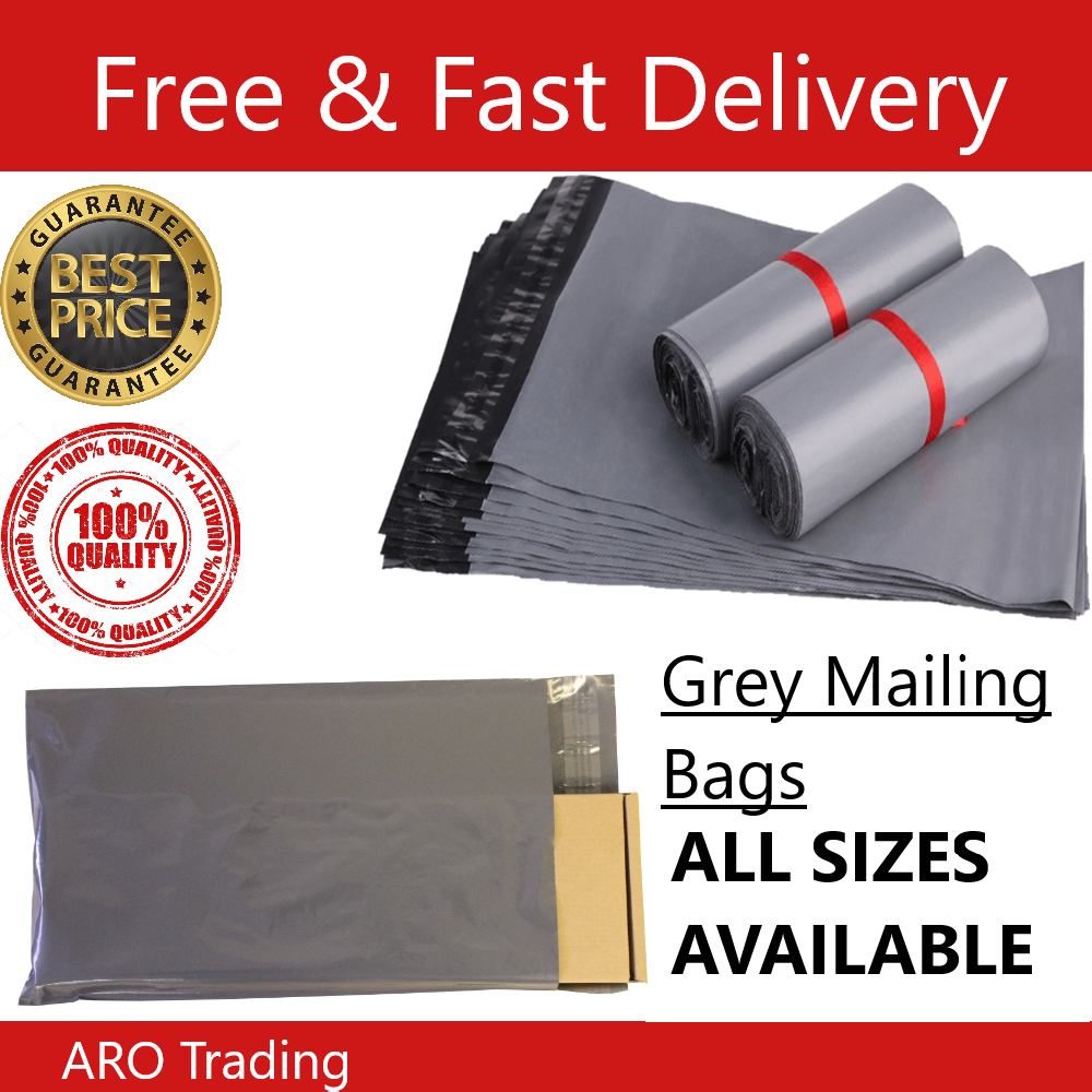 Cheap Mailing Bags Grey All Sizes Poly-Postal Cheapest On EBay 2